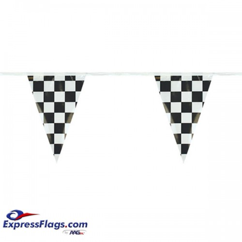 Checkered Pennant Strings - 12in x 18in Triangle PennantRP-CK