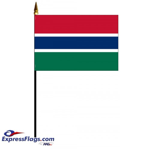 Gambia Mounted Flags - 4in x 6in031599