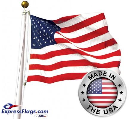 American 3  x 5  Flag - SUN-BRITE Nylon Made in USA010098