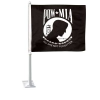 POW-MIA Auto Window Flag Set
