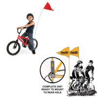 Bike Safety Flags Complete Set
