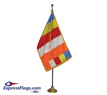 3  x 5  Deluxe Buddhist Indoor Flag SetFS-B