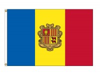 Andorra Nylon Flags with Seal - (UN Member)