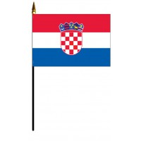 Croatia Mounted Flags