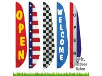 Nylon Stock Message Feather Flags - 7 Ft.