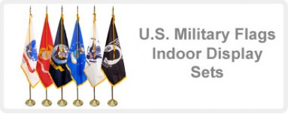 Indoor Display U.S. Military Flag Sets