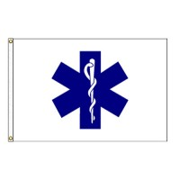 Star Of Life Flag - 3' x 5' Endura-Nylon