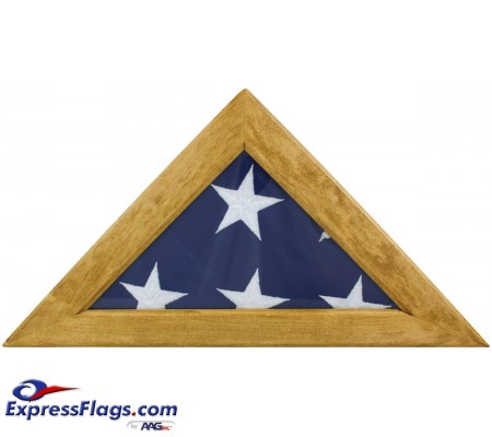 Maple Memorial Flag Case - Fits 5  x 9-1/2  Flag070336