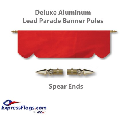 Deluxe Aluminum Lead Parade Banner Poles with Spear EndsDLX-S
