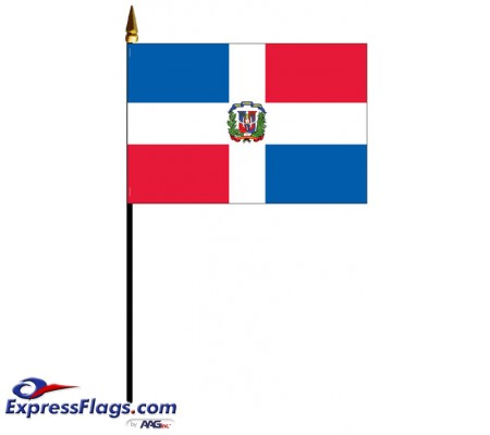 Dominican Republic Mounted Flags