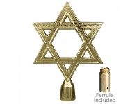 Metal Star of David Ornament for Indoor Display Flagpoles