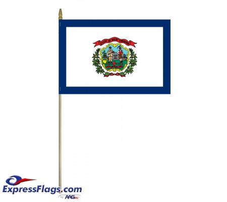 Mounted West Virginia State Flags