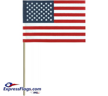 c133aee798ff No-Fray Cotton U.S. Stick Flags - No Tip - Made in USANFNT-USSF