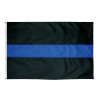 Thin Blue Line Flag - 3' x 5' Endura-Nylon