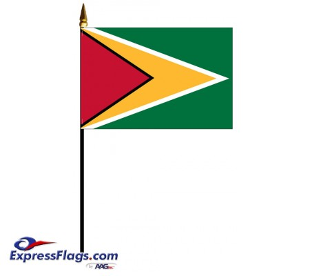 Guyana Mounted Flags