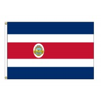 Costa Rica with Seal Nylon Flags  (UN, OAS Member)