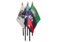 4in x 6in 50 State Stick Flag Set - E-Gloss