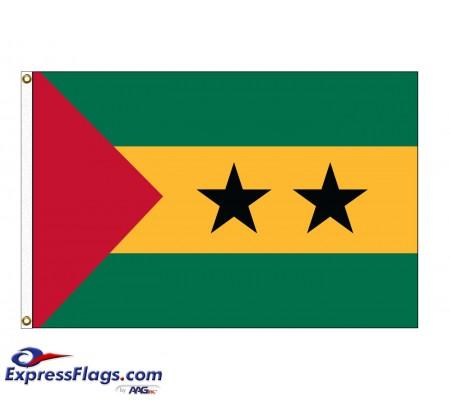 Sao Tome & Principe Nylon Flags (UN Member)STP-NYL