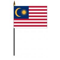 Malaysia Mounted Flags - 4in x 6in