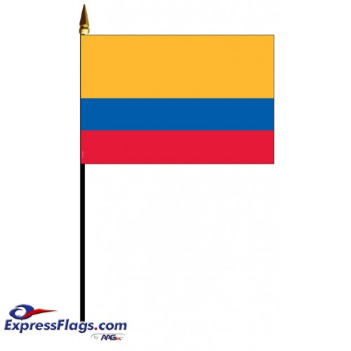 Colombia Mounted Flags