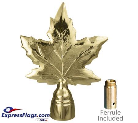 Metal Maple Leaf Ornament for Indoor Display Flagpoles050167