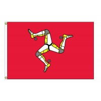 Man, Isle Of Nylon Flags - 3' x 5'