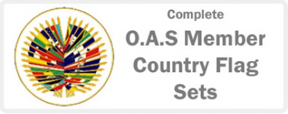 O.A.S.  Member Country Complete Flag Sets - 35 flags