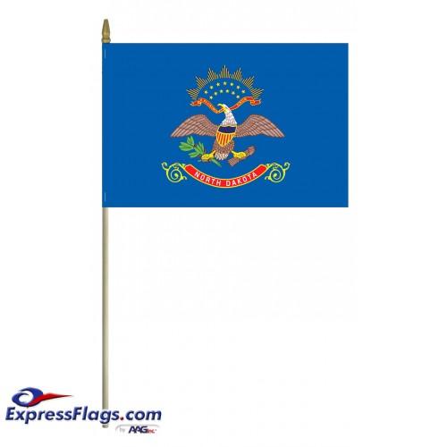 Mounted North Dakota State Flags