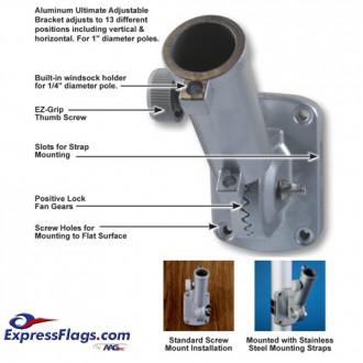 Ultimate Adjustable Aluminum Bracket - White310044