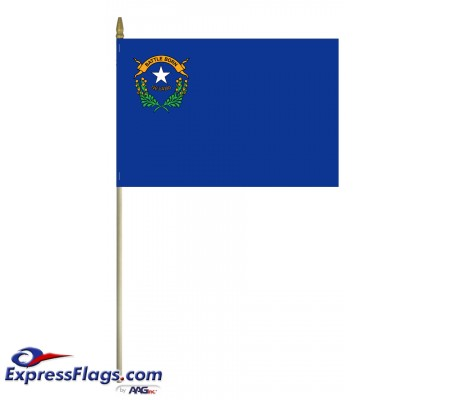 Mounted Nevada State Flags