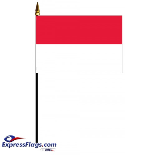 Indonesia Mounted Flags - 4in x 6in032001