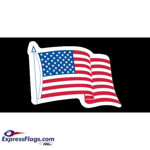 Die-Cut American Flag Decals - 3-1/4 in x 4 inGL-5927