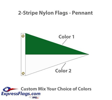 2-Stripe Nylon Flags - PennantNY-P2S