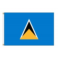 Saint Lucia Nylon Flags (UN, OAS Member)