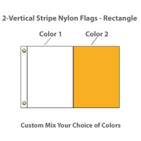 2-Vertical Stripe Nylon Flags - Rectangle