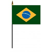 Brazil Mounted Flags