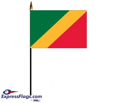 Congo Republic Mounted Flags - 4in x 6in030992