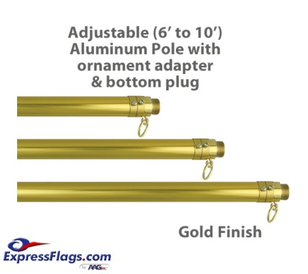 Adjustable Aluminum Pole - 6  up to 10050293
