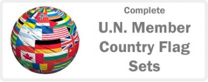 U.N. Member Country Complete Flag Sets - 193 flags