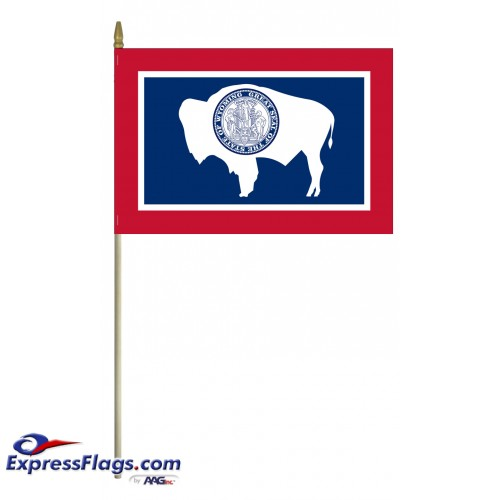 Mounted Wyoming State Flags