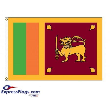 Sri Lanka Nylon Flags (UN Member)LKA-NYL