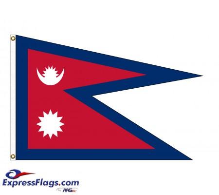 Nepal Nylon Flags (UN Member)NPL-NYL