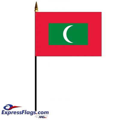 Maldives Mounted Flags - 4in x 6in032584