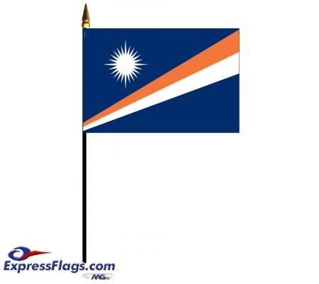Marshall Islands Mounted Flags - 4in x 6in032644