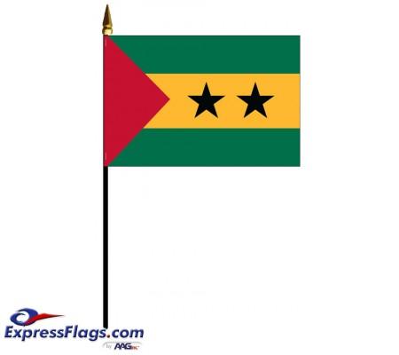 Sao Tome & Principe Mounted Flags - 4in x 6in033587
