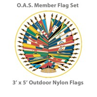 3' x 5' Complete O.A.S. Member Flags - 35 Outdoor Nylon Flags