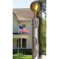 Telescoping Aluminum Residential Flagpole Sets