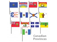 Mounted Canadian Provinces Flags