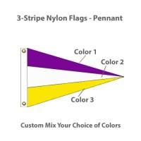 3-Stripe Nylon Flags - Pennant