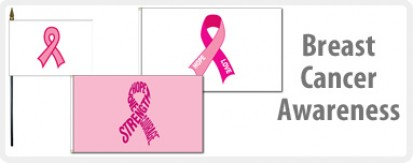 Breast Cancer Awareness Flags